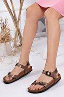McDark Kadın Bakır Parmak Arası Sandalet
