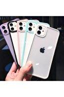 Go Aksesuar Iphone 11 Uyumlu Kenarı Siyah Darbe Önleyici Şeffaf Silikon Kılıf