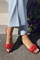 İnan Ayakkabı Kadın Örgülü Bant Detaylı Terlik
