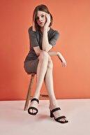 Hotiç Siyah Yaya Kadın Sandalet & Terlik