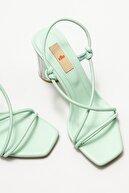 Elle Kadın Mint Yeşili Topuklu Sandalet