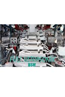 BSM Beyaz Yassı Lastikli 3 Katlı Cerrahi Meltblown Çocuk Maskesi Toplam 50 Adet