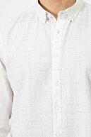 Koton Erkek Beyaz Kareli Gömlek 0yam61005bw