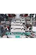 BSM Mavi Yassı Lastikli 3 Katlı Meltblown Cerrahi Çocuk Maskesi Toplam 50 Adet