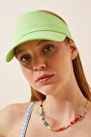 Happiness İst. Kadın Canlı Yeşil Ayarlanabilir  Bantlı Tenis Şapkası PD00027