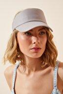 Happiness İst. Kadın Gri Ayarlanabilir  Bantlı Tenis Şapkası PD00027