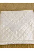 Işık Tekstil Yastık Hurcu Ncili Saten Çeyizlik Beyaz Rengi 2 Adet 74x46x46 Ölç