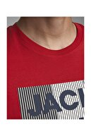 Jack & Jones JJECORP LOGO TEE SS O-NEC Kırmızı Erkek T-Shirt 101069460