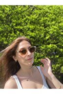 Solemi Gözlük Kadın Kahverengi Cateye Güneş Gözlüğü