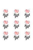Fa Etiket Sticker - Thank You