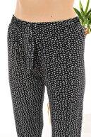 Arvin Kadın Siyah Renk Çiçek Baskılı Pijama Altı