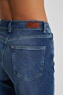 CROSS JEANS Kadın Gwen Koyu Mavi Yüksek Bel Regular Tapered Jean Pantolon C 4667-010
