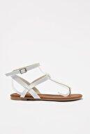 Trendyol Shoes Beyaz Kadın Sandalet TAKSS21SD0045