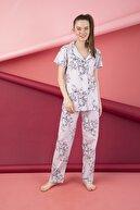 Strawberry Kadın Desenli Düğmeli Pijama Takım