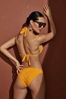 Bellisa Kadın Sarı Üçgen Bikini Takımı