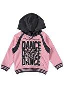 hepbaby Kız Çocuk Siyah Dance Dance Kapüşonlu Eşofman Takımını