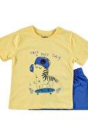 Tuffy Erkek Bebek Şapkalı Zebra 2li Tshirt-Şort Takım
