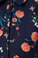 Defacto Kız Çocuk Çiçek Desenli Kolsuz Dokuma Elbise