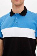 Defacto Erkek Mavi Renk Bloklu Polo T-shirt