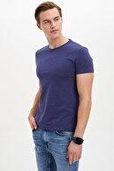 Defacto Erkek Lacivert Basic Slim Fit T-Shirt