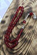 Sultan Telkari Şeffaf Kırmızı Tonda Kapsül Kesim Iran Bağası Kehribar Tesbih