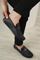Oksit Hty Kaptan Tokalı Cilt Detaylı Erkek Loafer