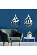 GİZEM SHOP Allah Muhammed Gold Lafzı Ayna Pleksi