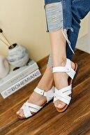 Fogs Kadın Beyaz İnce Topuklu Sandalet