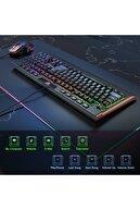 Teknoloji Gelsin Onikuma Gaming Klavye Mouse Seti 7 Çeşit Rgb Klavye Ve Rgb Mouse