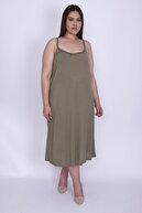 Şans Kadın Haki Askılı Elbise 65N26005