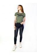 MERİCEY Kadın Koyu Yeşil Kısa Kollu T-Shirt