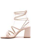 Gate Kadın Ten Rengi Günlük Topuklu Sandalet Ayakkabı