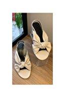 LAVITRINE Kadın Gri Klasik Topuklu Ayakkabı