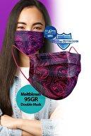 Medizer Mouds Serisi 1 Meltblown Kumaş 3 Katlı Ultrasonik Cerrahi Ağız Maskesi 5 Desen -telli 50 Adet
