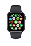 DESIREE Smart Watch 6 Türkçe Menülü Akıllı Saat Tam Ekran Nabız Tansiyon Ölçer Suya Dayanıklı Siyah