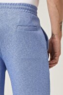 Altınyıldız Classics Erkek Mavi Slim Fit Günlük Rahat Spor Örme Pike Şort