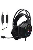 Gamepower Mihawk Pro Titreşimli Rgb 7.1 Usb Mikrofonlu Gaming Oyuncu Kulaklıkğı Gamer Kulaklık