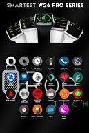 """SMARTEST W26pro Yan Tuş Aktif 1,75"""" Suya Dayanıklı Nabız & Tansiyon Ölçer Ios Ve Android Uyumlu Akıllı Saat"""