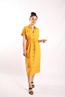 Blues Outlet Kadın Düğmeli Gömlek Elbise