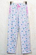 Line Smart Kadın Pamuklu Beyaz Desenli Cepli Ev Giyim Rahat Pijama Altı