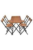 DOĞRULAR Ahşap Masa Sandalye 4+1 Takım Elk-03861