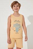 Penti Erkek Çocuk Sarı  Veg-t Broccoli 2li Pijama Takımı