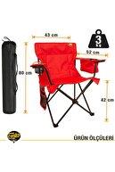 Funky Chairs Kırmızı Cool Ice Lüks Kamp Sandalyesi