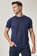 Altınyıldız Classics Erkek Lacivert Slim Fit Bisiklet Yaka T-Shirt