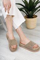 Moda Değirmeni Kadın Vizon Dantelli Terlik Md1073-122-0001