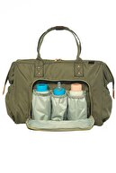 Lal Baby Baggage Bag Haki Omuz Askılı Anne Bebek Bakım Çantası