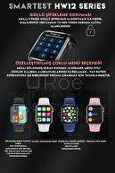 """SMARTEST Hw12 Series 1,57"""" Akıllı Saat Suya Dayanıklı Nabız&tansiyon Ölçer Çok Fonksiyonlu Ios&android Uyumlu"""