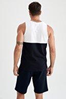 Defacto Regular Fit Renk Bloklu Kolsuz  T-Shirt