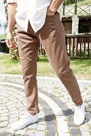 Sateen Men Erkek Kahve Yıkamalı Pamuk Pantolon