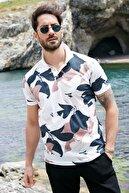 Sateen Men Erkek Ekru Dijital Baskılı T-Shirt